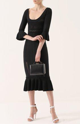 Облегающее платье с юбкой годе и глубоким круглым вырезом Alice McCall черное | Фото №1