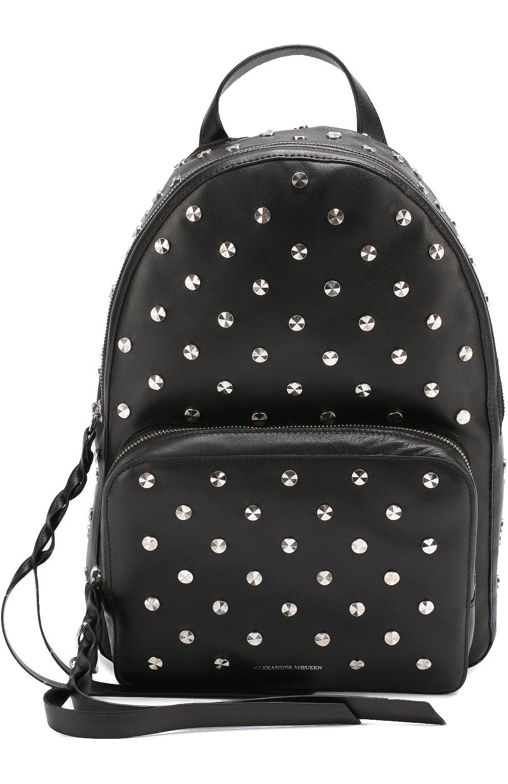 Кожаный рюкзак с заклепками | Фото №1