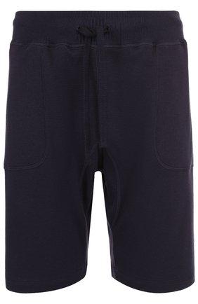 Хлопковые шорты свободного кроя с поясом на резинке | Фото №1