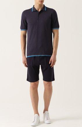 Хлопковые шорты свободного кроя с поясом на резинке | Фото №2