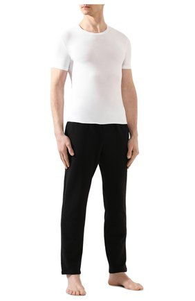 Мужская футболка ERMENEGILDO ZEGNA белого цвета, арт. N2M200020   Фото 2 (Кросс-КТ: домашняя одежда; Рукава: Короткие; Материал внешний: Синтетический материал; Длина (для топов): Стандартные; Мужское Кросс-КТ: Футболка-белье; Статус проверки: Проверена категория)