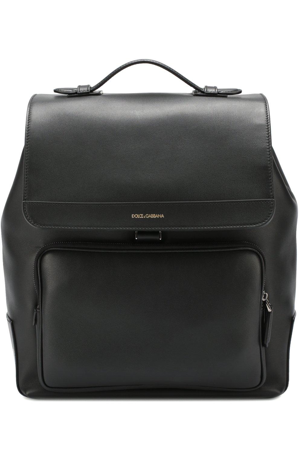 Кожаный рюкзак Mediterraneo с клапаном и внешним карманом на молнии | Фото №1