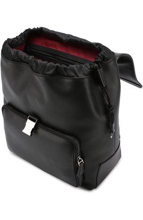 Кожаный рюкзак Mediterraneo с клапаном и внешним карманом на молнии Dolce & Gabbana черный | Фото №4