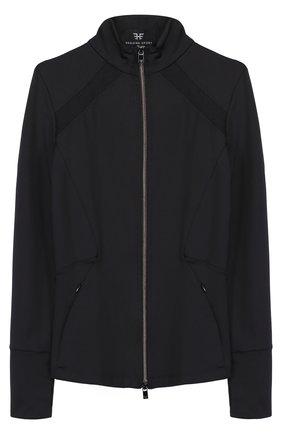 Спортивная куртка на молнии с перфорацией | Фото №1