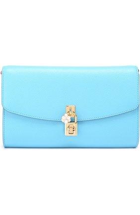 Клатч Dolce на цепочке Dolce & Gabbana голубого цвета | Фото №1