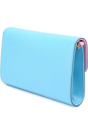 Клатч Dolce на цепочке Dolce & Gabbana голубого цвета | Фото №2