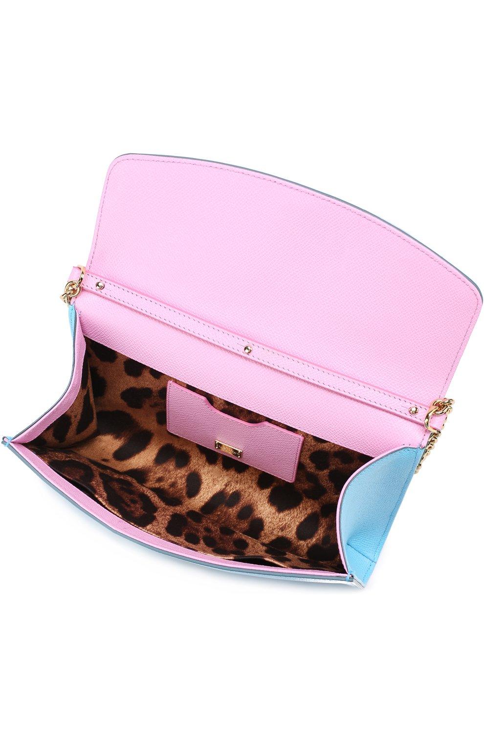 Клатч Dolce на цепочке Dolce & Gabbana голубого цвета | Фото №3
