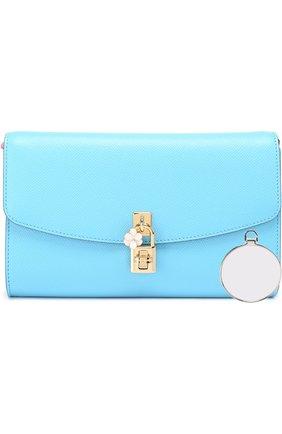 Клатч Dolce на цепочке Dolce & Gabbana голубого цвета | Фото №4
