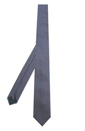 Мужской шелковый галстук с узором LANVIN темно-синего цвета, арт. 2278/TIE   Фото 2
