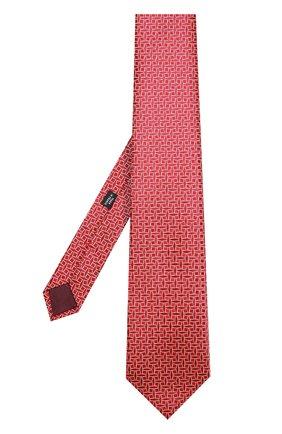 Шелковый галстук с узором Charvet красного цвета | Фото №1