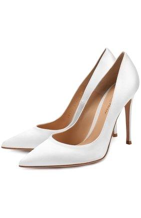 Атласные туфли Gianvito 105 на шпильке | Фото №1
