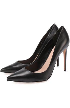 Кожаные туфли на шпильке | Фото №1