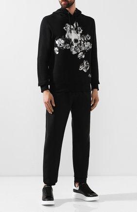 Мужские кожаные кеды  ALEXANDER MCQUEEN черного цвета, арт. 441631/WHGP5 | Фото 2