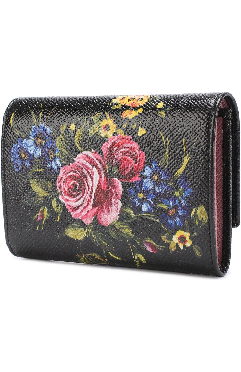 Кожаное портмоне с принтом | Фото №2