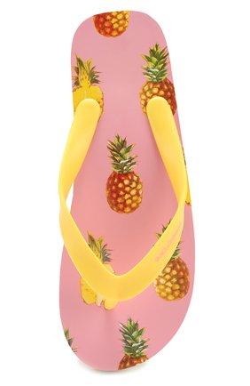 Детские резиновые шлепанцы с принтом Dolce & Gabbana разноцветного цвета | Фото №4