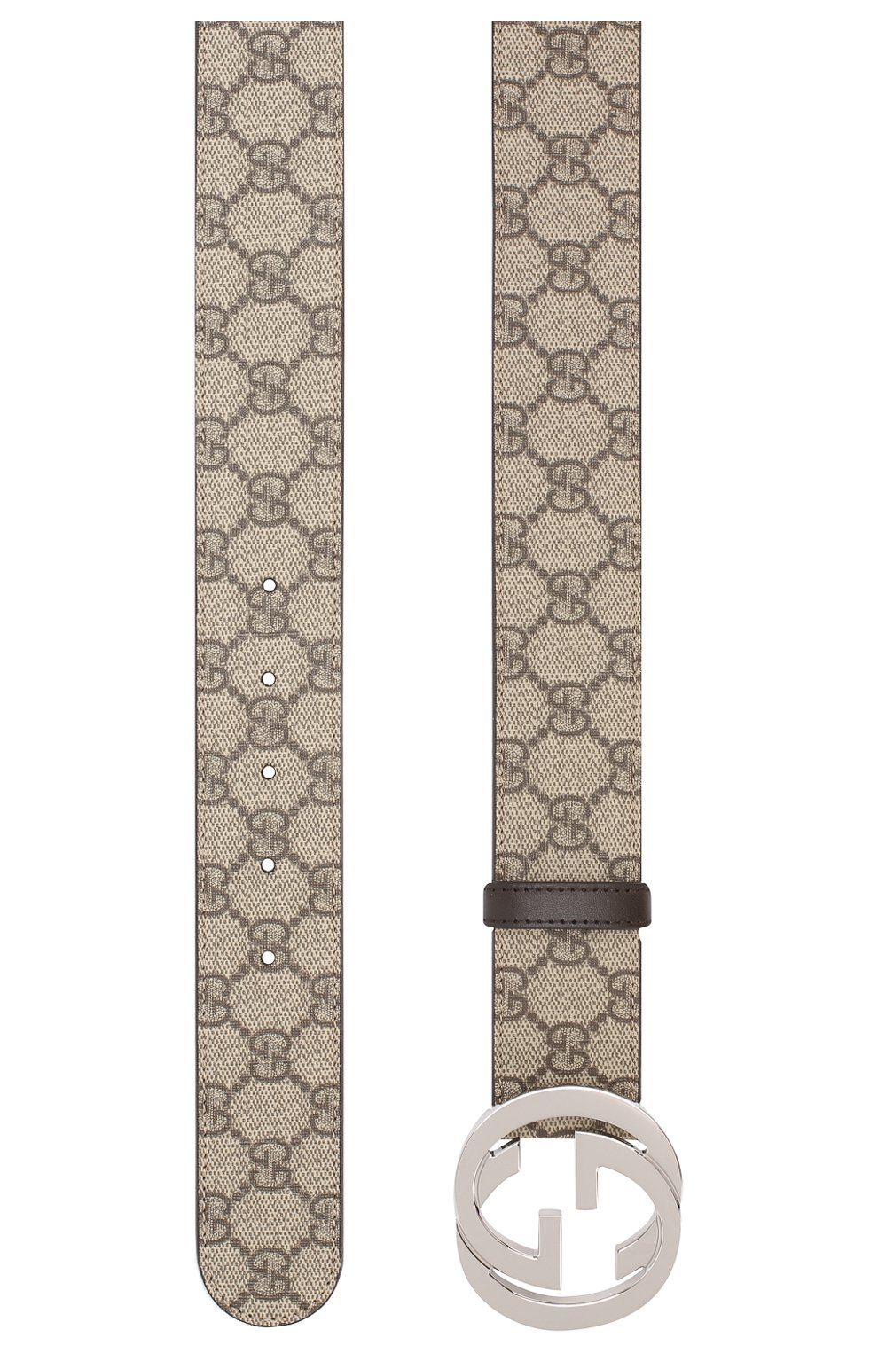 Мужской текстильный ремень GUCCI бежевого цвета, арт. 411924/KGDHN | Фото 2
