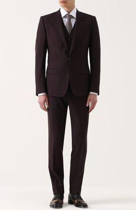 Шерстяной костюм-тройка Dolce & Gabbana фиолетовый | Фото №1