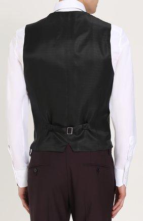 Шерстяной костюм-тройка Dolce & Gabbana фиолетовый | Фото №5