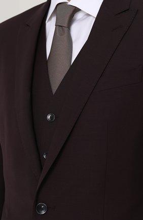 Шерстяной костюм-тройка Dolce & Gabbana фиолетовый | Фото №8