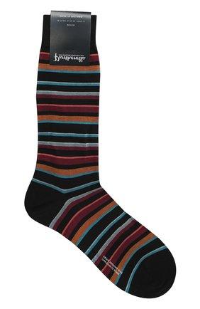 Хлопковые носки в полоску | Фото №1