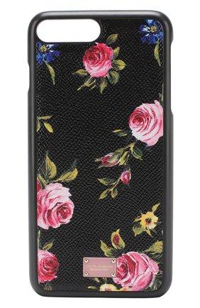 Кожаный чехол для iPhone 7 Plus с принтом Dolce & Gabbana  | Фото №1