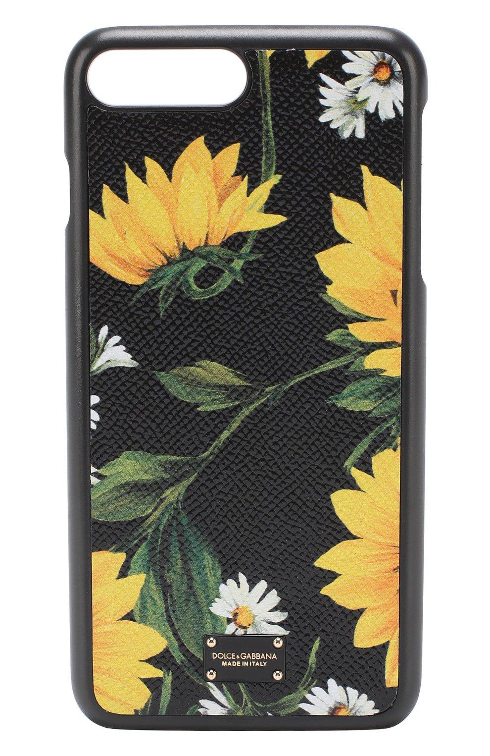 Кожаный чехол для iPhone 7 Plus с принтом | Фото №1