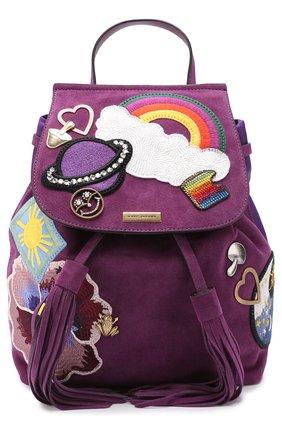 Замшевый рюкзак Zip Pack с нашивками | Фото №1