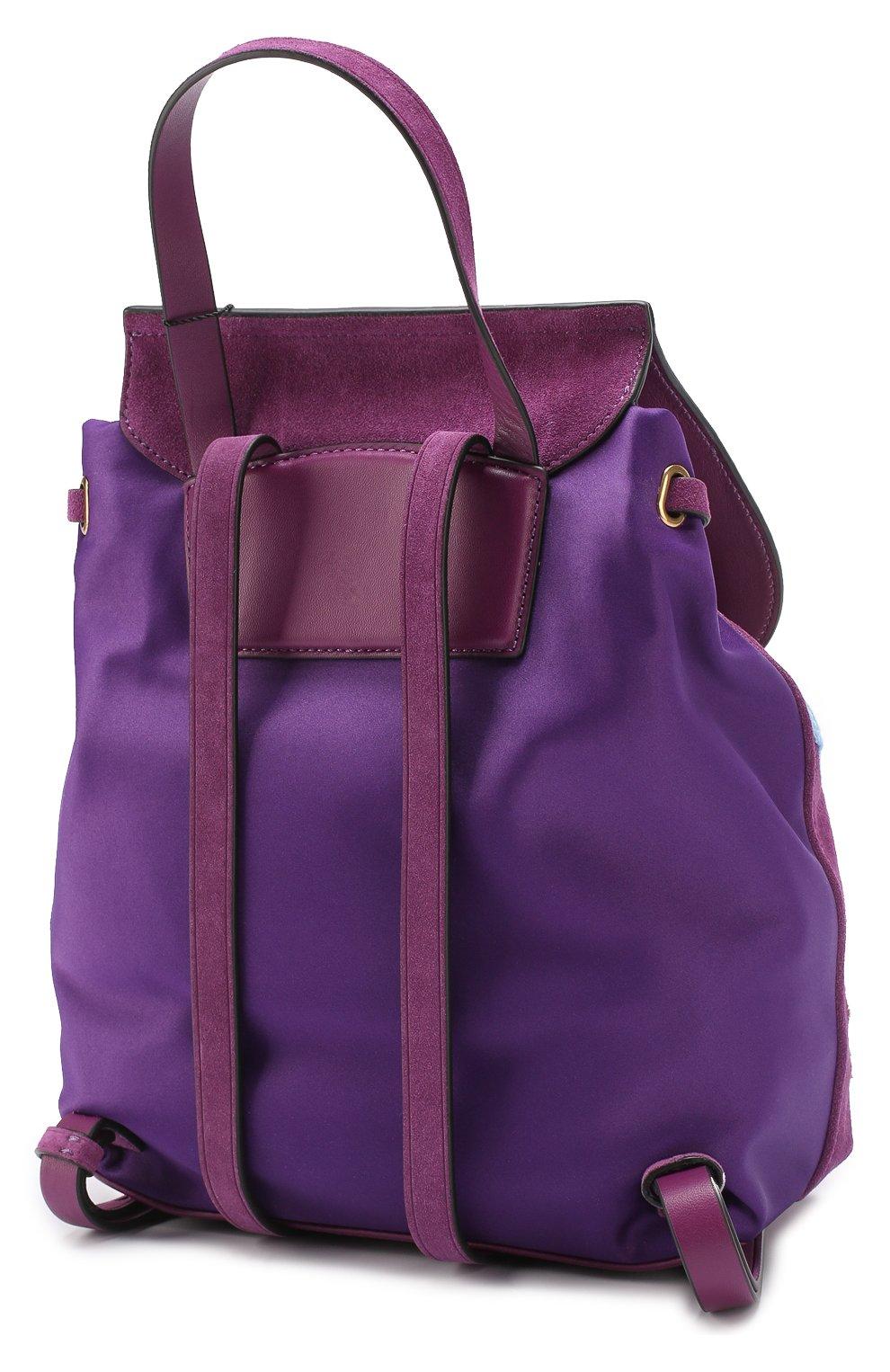 Замшевый рюкзак Zip Pack с нашивками | Фото №2