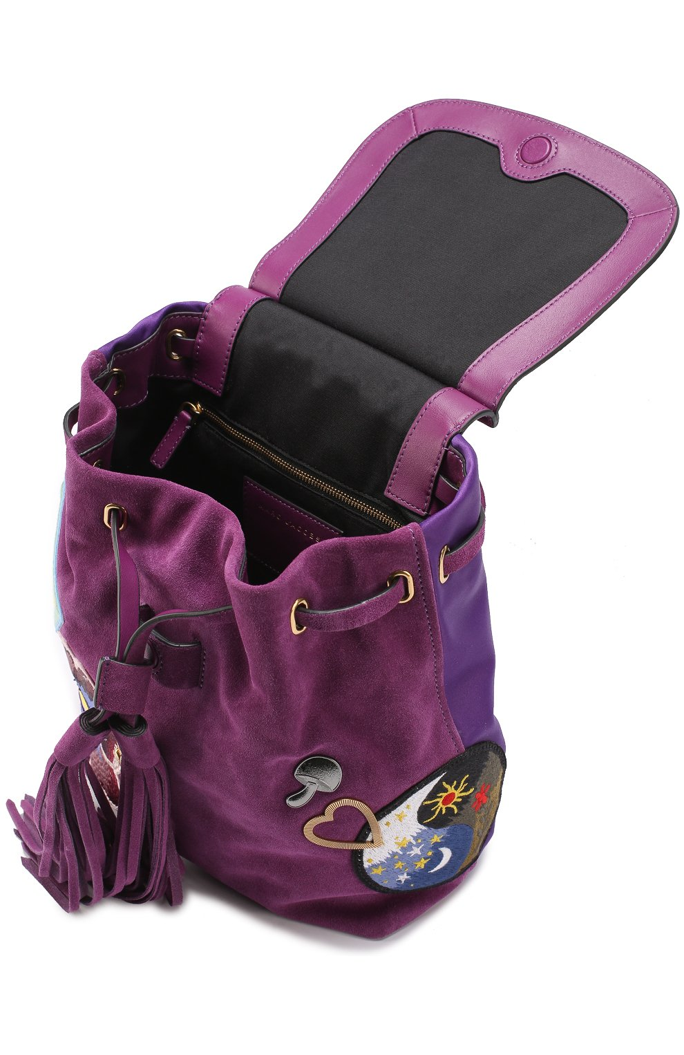 Замшевый рюкзак Zip Pack с нашивками | Фото №3