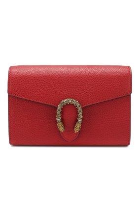 Женская сумка dionysus GUCCI красного цвета, арт. 401231/CA0GX | Фото 1 (Материал: Натуральная кожа; Размер: mini; Ремень/цепочка: На ремешке; Сумки-технические: Сумки через плечо)