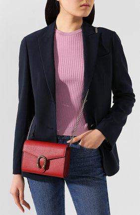 Женская сумка dionysus GUCCI красного цвета, арт. 401231/CA0GX | Фото 2 (Материал: Натуральная кожа; Размер: mini; Ремень/цепочка: На ремешке; Сумки-технические: Сумки через плечо)