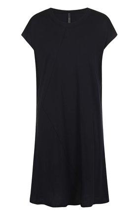 Удлиненная хлопковая футболка свободного кроя Barbara I Gongini черная | Фото №1