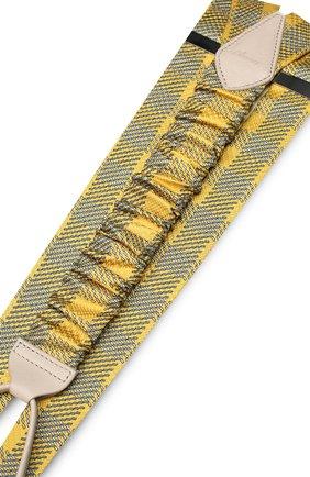 Подтяжки из шелка с отделкой из натуральной кожи | Фото №2