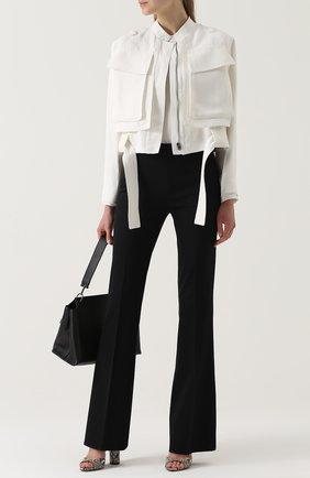 Расклешенные брюки со стрелками Giambattista Valli черные | Фото №1