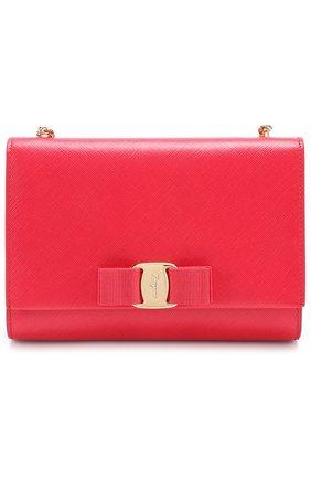 Сумка Ginny mini на цепочке Salvatore Ferragamo красного цвета | Фото №1