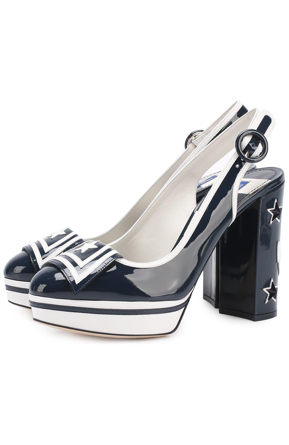 Лаковые туфли Vally с аппликациями | Фото №1
