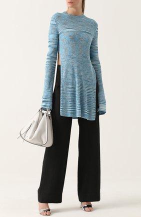 Широкие брюки прямого кроя с карманами Ilaria Nistri черные | Фото №1