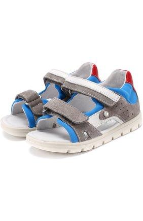 Комбинированные сандалии с застежками велькро | Фото №1