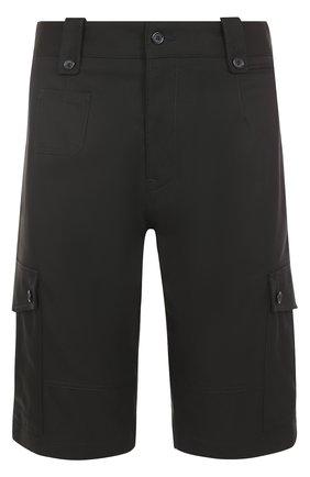 Хлопковые шорты с накладными карманами Dolce & Gabbana черные | Фото №1
