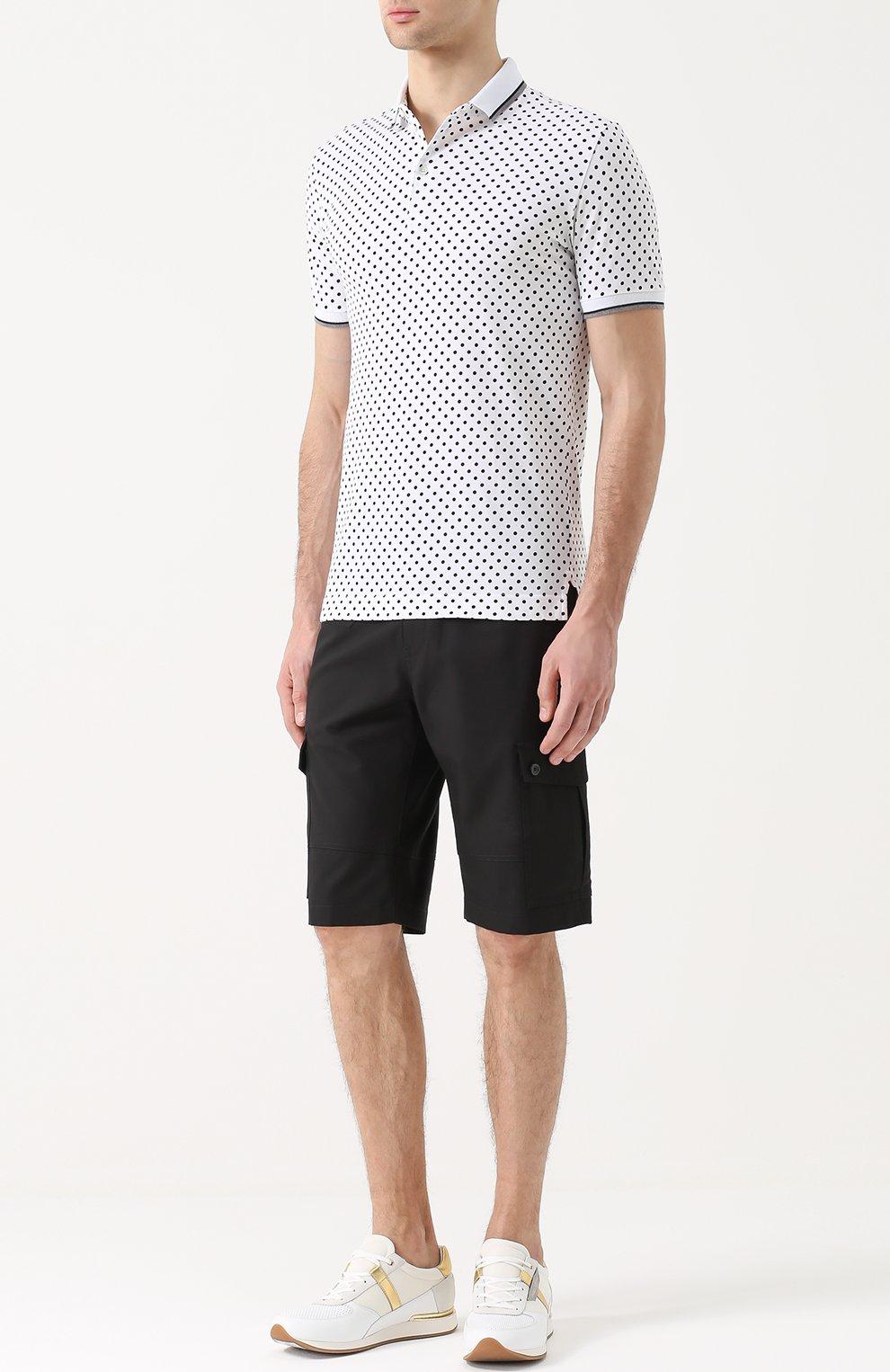 Хлопковые шорты с накладными карманами Dolce & Gabbana черные | Фото №2