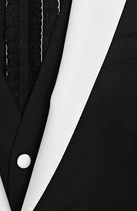 Смокинг-тройка из смеси шелка и шерсти с контрастной отделкой | Фото №8