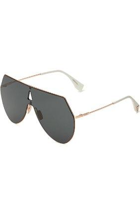 Женские солнцезащитные очки FENDI черного цвета, арт. 0193 DDB | Фото 1