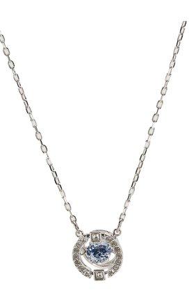 Женская подвеска на цепочке sparkling dance round SWAROVSKI серебряного цвета, арт. 5279425 | Фото 2