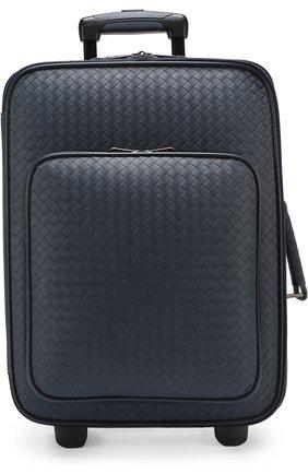 Кожаный дорожный чемодан с внешним карманом на молнии | Фото №1