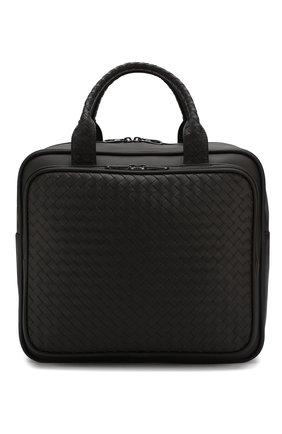 Мужская кожаная дорожная сумка BOTTEGA VENETA темно-коричневого цвета, арт. 274546/V4651 | Фото 1