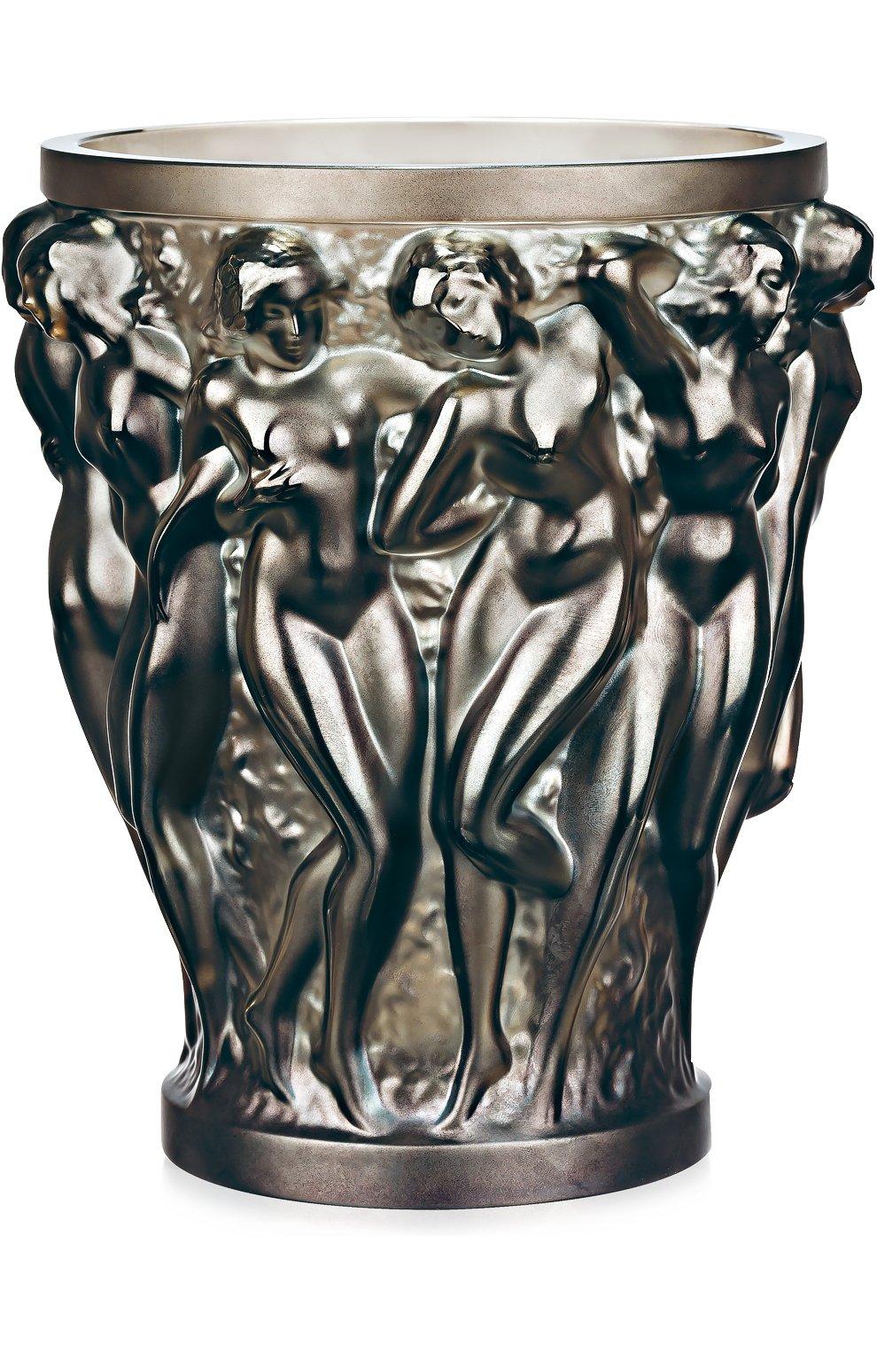 Мужского ваза bacchantes LALIQUE серого цвета, арт. 10547300 | Фото 1