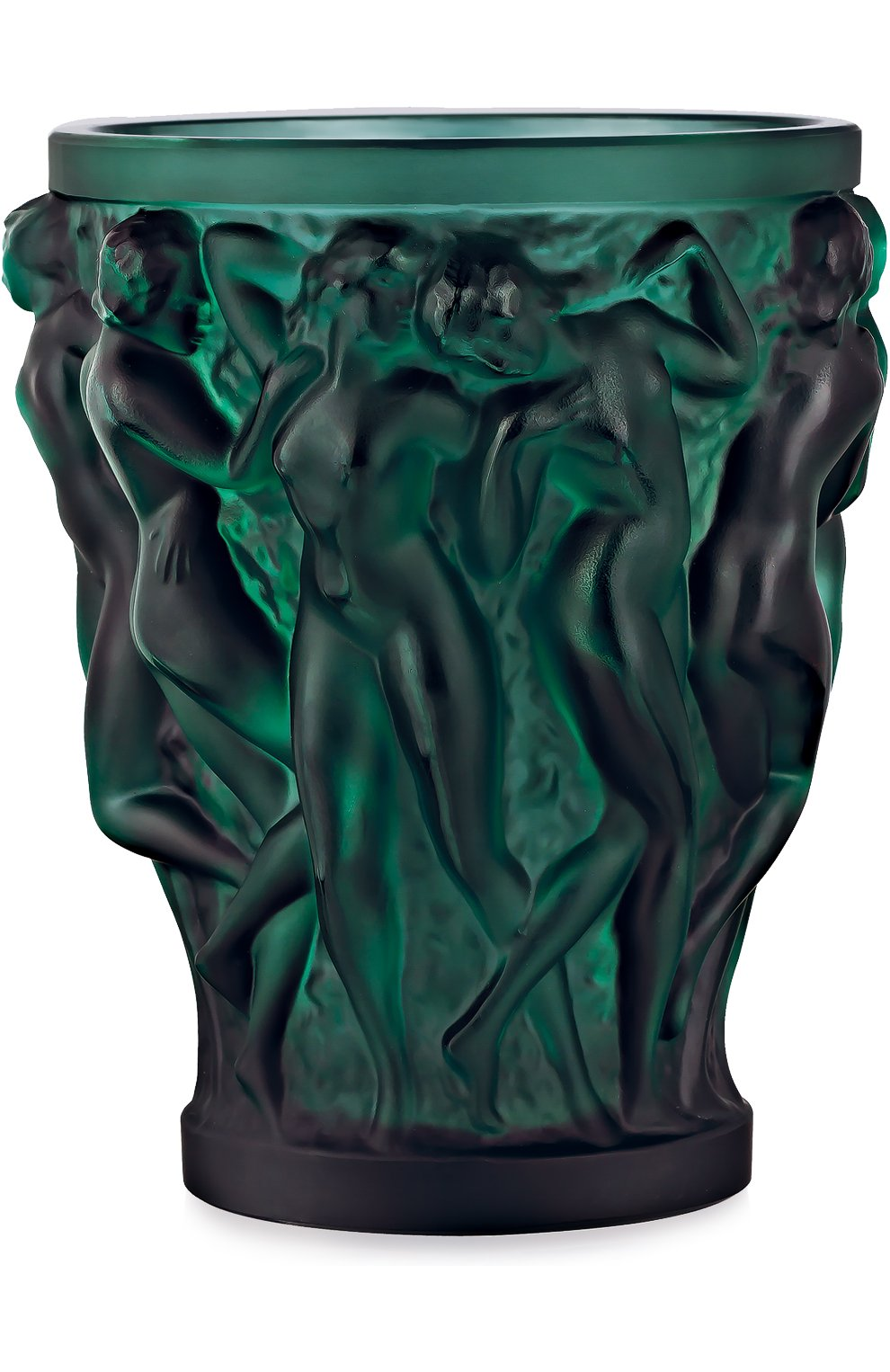 Мужского ваза bacchantes LALIQUE зеленого цвета, арт. 10547700 | Фото 1