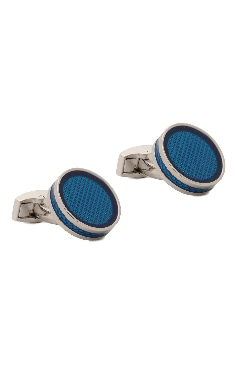 Мужские запонки TATEOSSIAN синего цвета, арт. CL3988   Фото 1 (Стили: Классический; Материал: Металл; Статус проверки: Проверена категория)