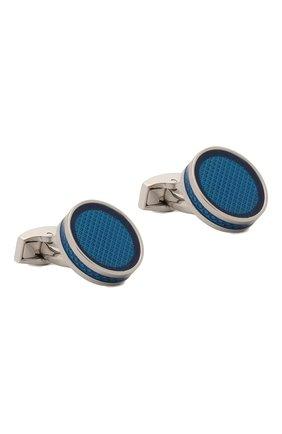 Мужские запонки TATEOSSIAN синего цвета, арт. CL3988 | Фото 1