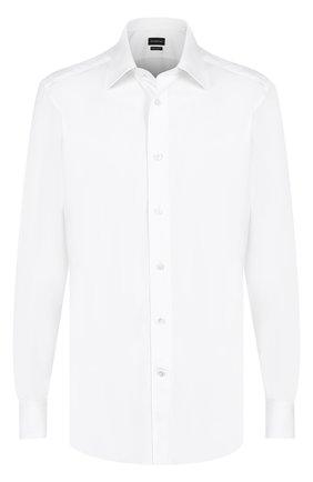 Мужская хлопковая сорочка с итальянским воротником ERMENEGILDO ZEGNA белого цвета, арт. 9010639MS4PA | Фото 1